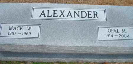 ALEXANDER, MACK W. - Yell County, Arkansas | MACK W. ALEXANDER - Arkansas Gravestone Photos