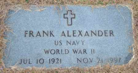 ALEXANDER (VETERAN WWII), FRANK - Yell County, Arkansas | FRANK ALEXANDER (VETERAN WWII) - Arkansas Gravestone Photos