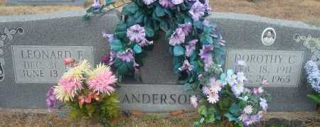 ANDERSON, LEONARD E - Yell County, Arkansas | LEONARD E ANDERSON - Arkansas Gravestone Photos