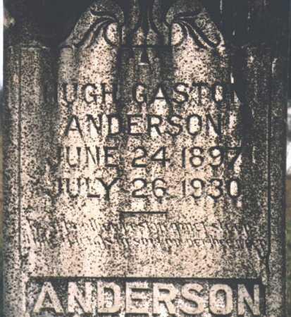 ANDERSON, HUGH GASTON - Yell County, Arkansas   HUGH GASTON ANDERSON - Arkansas Gravestone Photos