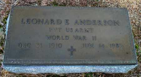 ANDERSON (VETERAN WWII), LEONARD E. - Yell County, Arkansas | LEONARD E. ANDERSON (VETERAN WWII) - Arkansas Gravestone Photos