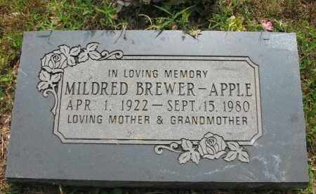 BREWER APPLE, MILDRED - Yell County, Arkansas | MILDRED BREWER APPLE - Arkansas Gravestone Photos