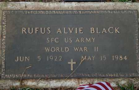 BLACK (VETERAN WWII), RUFUS ALVIE - Yell County, Arkansas | RUFUS ALVIE BLACK (VETERAN WWII) - Arkansas Gravestone Photos