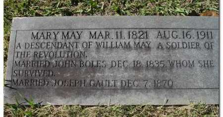 MAY BOLES GAULT, MARY - Yell County, Arkansas | MARY MAY BOLES GAULT - Arkansas Gravestone Photos