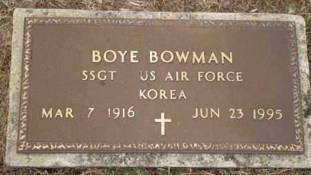 BOWMAN (VETERAN KOR), BOYE - Yell County, Arkansas | BOYE BOWMAN (VETERAN KOR) - Arkansas Gravestone Photos