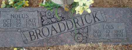 BROADDRICK, NOLUS - Yell County, Arkansas | NOLUS BROADDRICK - Arkansas Gravestone Photos