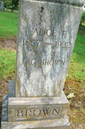 BROWN, ALICE T - Yell County, Arkansas | ALICE T BROWN - Arkansas Gravestone Photos