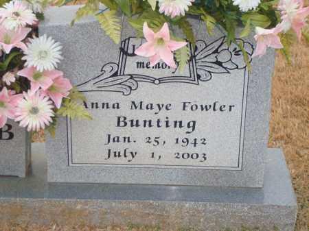 BUNTING, ANNA MAYE - Yell County, Arkansas | ANNA MAYE BUNTING - Arkansas Gravestone Photos
