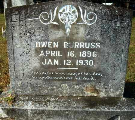 BURRUSS, OWEN - Yell County, Arkansas | OWEN BURRUSS - Arkansas Gravestone Photos