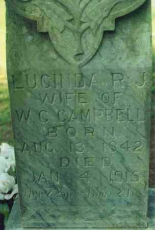 BLACKBURN CAMPBELL, LUCINDA R. J. - Yell County, Arkansas | LUCINDA R. J. BLACKBURN CAMPBELL - Arkansas Gravestone Photos