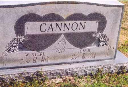 CANNON, WILLIAM STERL - Yell County, Arkansas | WILLIAM STERL CANNON - Arkansas Gravestone Photos