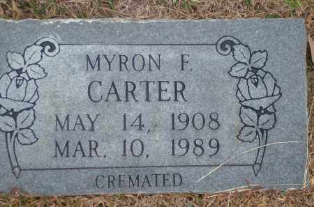 CARTER, MYRON F. - Yell County, Arkansas | MYRON F. CARTER - Arkansas Gravestone Photos