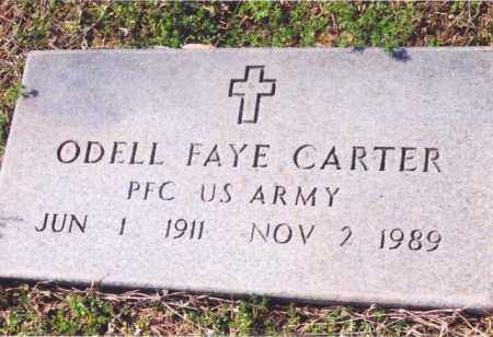 CARTER (VETERAN), ODELL FAYE - Yell County, Arkansas | ODELL FAYE CARTER (VETERAN) - Arkansas Gravestone Photos