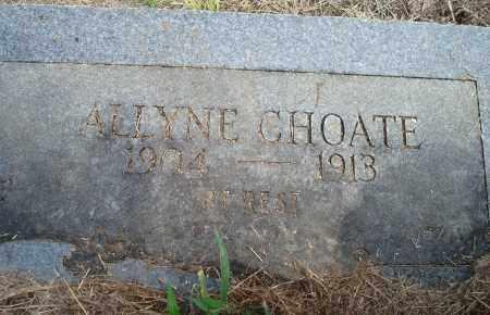 CHOATE, ALLYNE - Yell County, Arkansas | ALLYNE CHOATE - Arkansas Gravestone Photos