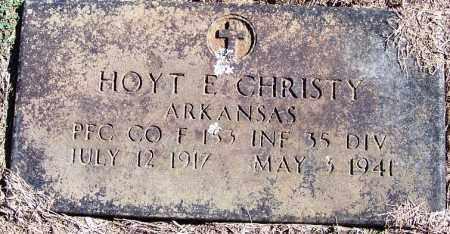 CHRISTY (VETERAN), HOYT E - Yell County, Arkansas | HOYT E CHRISTY (VETERAN) - Arkansas Gravestone Photos
