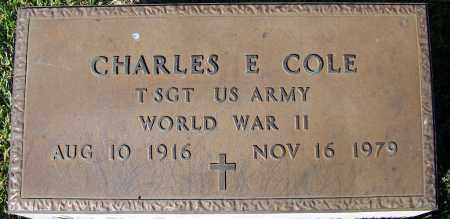 COLE (VETERAN WWII), CHARLES E - Yell County, Arkansas | CHARLES E COLE (VETERAN WWII) - Arkansas Gravestone Photos