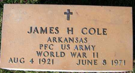COLE (VETERAN WWII), JAMES H - Yell County, Arkansas | JAMES H COLE (VETERAN WWII) - Arkansas Gravestone Photos