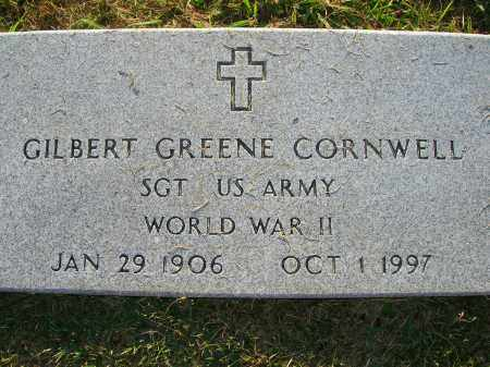 CORNWELL (VETERAN WWII), GILBERT GREENE - Yell County, Arkansas | GILBERT GREENE CORNWELL (VETERAN WWII) - Arkansas Gravestone Photos
