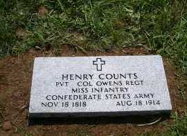 COUNTS  (VETERAN CSA), HENRY - Yell County, Arkansas | HENRY COUNTS  (VETERAN CSA) - Arkansas Gravestone Photos