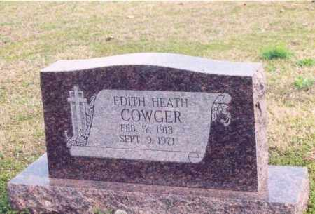 COWGER, EDITH HEATH - Yell County, Arkansas | EDITH HEATH COWGER - Arkansas Gravestone Photos