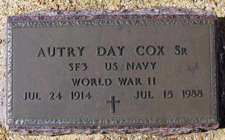 COX, SR. (VETERAN WWII), AUTRY DAY - Yell County, Arkansas | AUTRY DAY COX, SR. (VETERAN WWII) - Arkansas Gravestone Photos