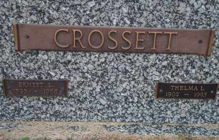 CROSSETT, ERNEST L. - Yell County, Arkansas | ERNEST L. CROSSETT - Arkansas Gravestone Photos