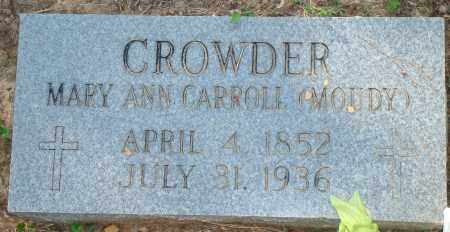 CROWDER, MARY ANN - Yell County, Arkansas | MARY ANN CROWDER - Arkansas Gravestone Photos