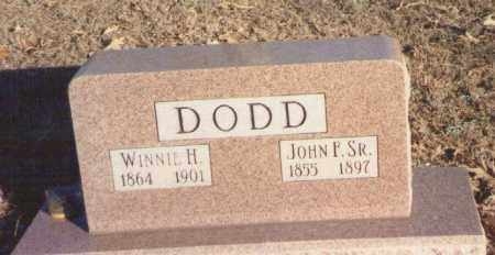 HARDY DODD, WINNIE CHARLOTTY - Yell County, Arkansas | WINNIE CHARLOTTY HARDY DODD - Arkansas Gravestone Photos