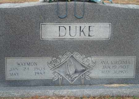 DUKE, WAYMON - Yell County, Arkansas | WAYMON DUKE - Arkansas Gravestone Photos