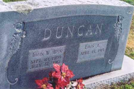 "DUNCAN, JOHN W ""BUS"" - Yell County, Arkansas 