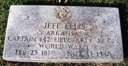ELLIS (VETERAN WWI), JEFF - Yell County, Arkansas | JEFF ELLIS (VETERAN WWI) - Arkansas Gravestone Photos