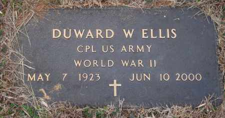 ELLIS (VETERAN WWII), DUWARD W - Yell County, Arkansas | DUWARD W ELLIS (VETERAN WWII) - Arkansas Gravestone Photos