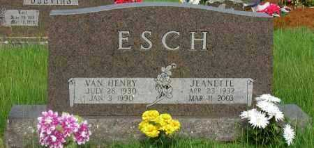 ESCH, VAN HENRY - Yell County, Arkansas | VAN HENRY ESCH - Arkansas Gravestone Photos