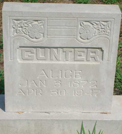 GUNTER, ALICE - Yell County, Arkansas | ALICE GUNTER - Arkansas Gravestone Photos