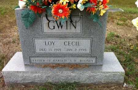 GWIN, LOY CECIL - Yell County, Arkansas | LOY CECIL GWIN - Arkansas Gravestone Photos