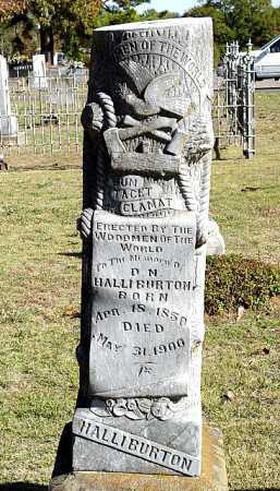 HALLIBURTON, D. N. - Yell County, Arkansas | D. N. HALLIBURTON - Arkansas Gravestone Photos
