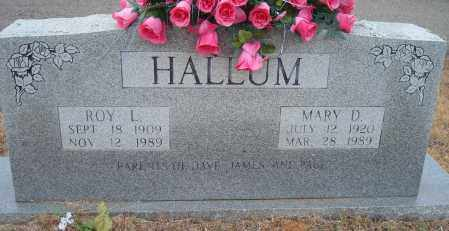 HALLUM, MARY D. - Yell County, Arkansas | MARY D. HALLUM - Arkansas Gravestone Photos