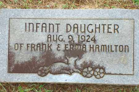 HAMILTON, INFANT DAUGHTER - Yell County, Arkansas | INFANT DAUGHTER HAMILTON - Arkansas Gravestone Photos