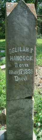 HANCOCK, DELILAH F - Yell County, Arkansas | DELILAH F HANCOCK - Arkansas Gravestone Photos