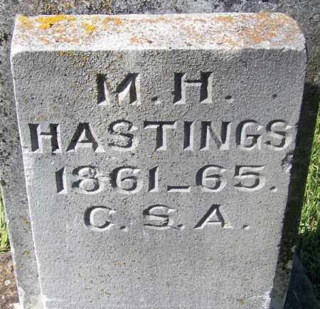 HASTINGS (VETERAN CSA), MILES H - Yell County, Arkansas | MILES H HASTINGS (VETERAN CSA) - Arkansas Gravestone Photos