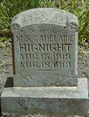HIGNIGHT, INFANT SON - Yell County, Arkansas | INFANT SON HIGNIGHT - Arkansas Gravestone Photos