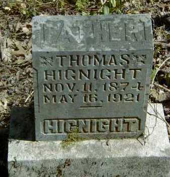 HIGNIGHT, THOMAS GLADSTONE - Yell County, Arkansas | THOMAS GLADSTONE HIGNIGHT - Arkansas Gravestone Photos