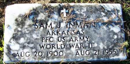 INMAN (VETERAN WWII), SAM J - Yell County, Arkansas | SAM J INMAN (VETERAN WWII) - Arkansas Gravestone Photos