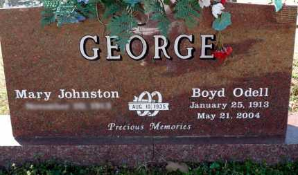 GEORGE, BOYD ODELL - Yell County, Arkansas | BOYD ODELL GEORGE - Arkansas Gravestone Photos