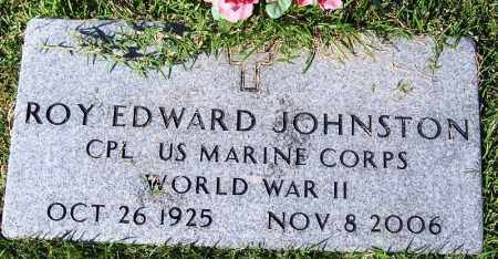 JOHNSTON (VETERAN WWII), ROY EDWARD - Yell County, Arkansas | ROY EDWARD JOHNSTON (VETERAN WWII) - Arkansas Gravestone Photos