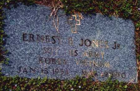 JONES, JR (VETERAN 2 WARS), ERNEST B - Yell County, Arkansas | ERNEST B JONES, JR (VETERAN 2 WARS) - Arkansas Gravestone Photos