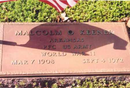 KEENER (VETERAN WWII), MALCOM O - Yell County, Arkansas | MALCOM O KEENER (VETERAN WWII) - Arkansas Gravestone Photos