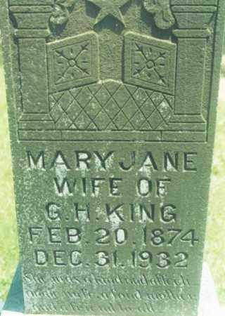 KING, MARY JANE - Yell County, Arkansas | MARY JANE KING - Arkansas Gravestone Photos