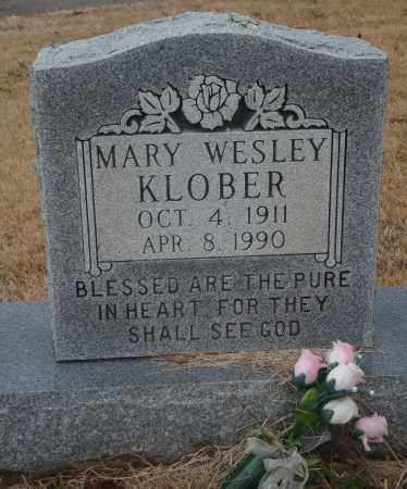 WESLEY KLOBER, MARY - Yell County, Arkansas | MARY WESLEY KLOBER - Arkansas Gravestone Photos