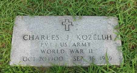 KOZELUH (VETERAN WWII), CHARLES J - Yell County, Arkansas | CHARLES J KOZELUH (VETERAN WWII) - Arkansas Gravestone Photos